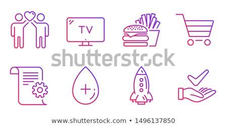 comida · rosto · sorridente · sanduíche · verde · pão · vermelho - foto stock © timbrk