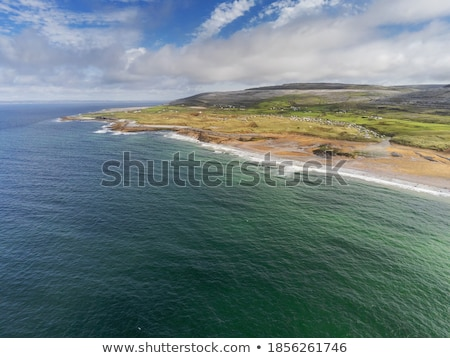 Coastline at the Beach on a Partly Cloudy and Sunny Day Stock photo © Frankljr
