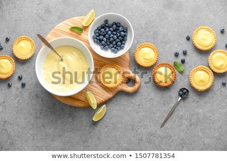 Vanille vla room taart plakje Stockfoto © aladin66