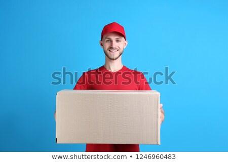 Homem papel pardo caixa branco camisas Foto stock © nuttakit