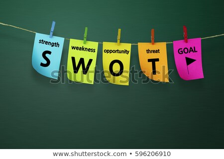 swot analysis bulletin board stock photo © mybaitshop