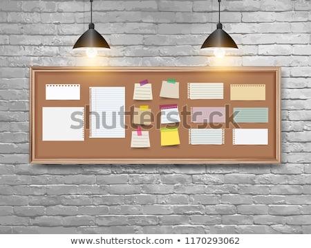 Blauw · nota · klaar · tekst · textuur · hout - stockfoto © redpixel