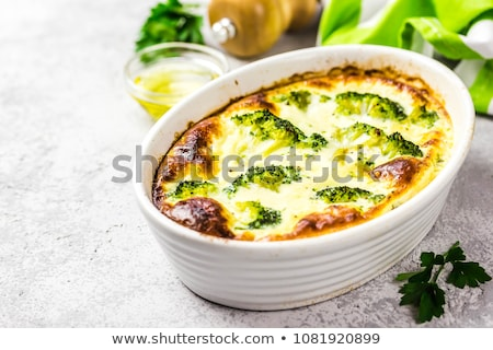 Sausages with broccoli and cauliflower Stock photo © fanfo