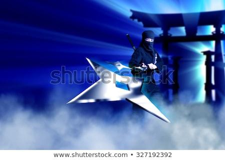 throwing star ninja shuriken stock photo © borysshevchuk