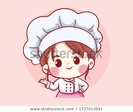 Stock photo: cute girl cooking