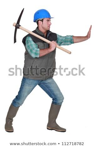 Man using pick-ax Stock photo © photography33