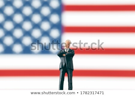 businessman standing in front of international flags stock photo © photography33
