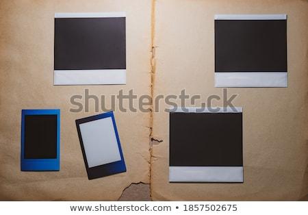 Polaroid filmek illusztráció mintázott fal papír Stock fotó © smithore