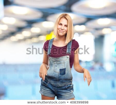 young attractive blonde exercising stock photo © stryjek