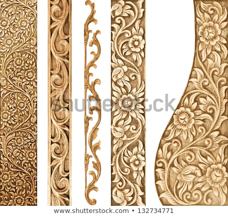 Flower carved frame stock photo witthaya phonsawat
