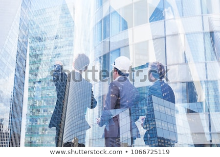Group designing real estate plan Stock photo © photography33