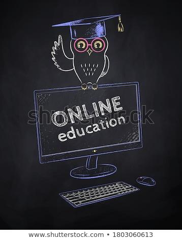 黒 コンピュータのキーボード を 学習 ストックフォト © devon