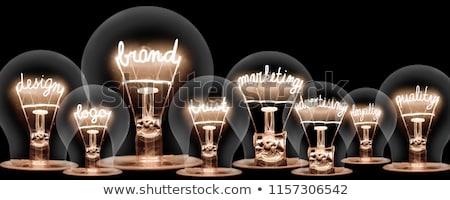 Branding sötét tábla szó illusztráció üzlet Stock fotó © kbuntu