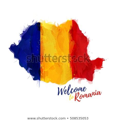 Mappa colori Romania illustrazione bandiera arte Foto d'archivio © perysty