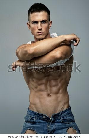Perfil tiro perfecto sin camisa posando Foto stock © stockyimages