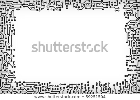 Frame made of electronic components Stock photo © pzaxe