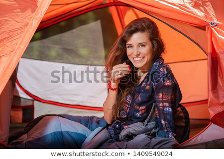 Waking Up On A Camping Trip Stock fotó © O_Lypa