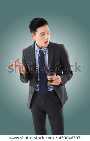Сток-фото: Японский · курение · сигару · довольно · азиатских · девушки