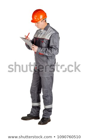 Workman with a clipboard Stock photo © photography33