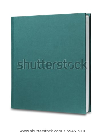blank green upright book isolated stock photo © shutswis