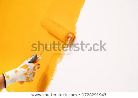 Giallo vernice gestire istruzione colore pittore Foto d'archivio © wavebreak_media