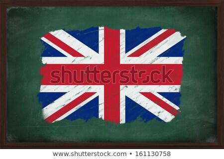 Zászló Anglia iskolatábla festett kréta angol zászló Stock fotó © vepar5