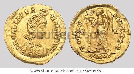 antique roman coins stock photo © hofmeester