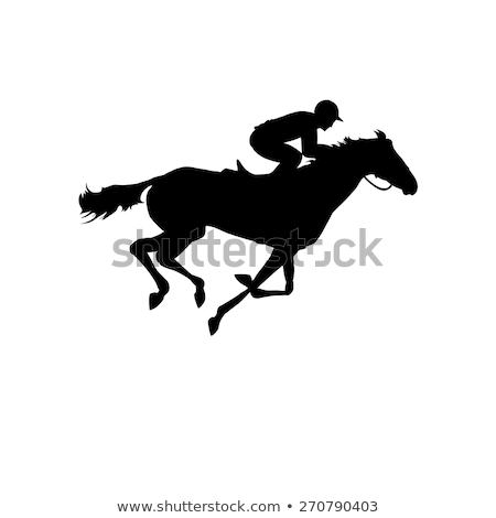 Stock photo: Horse Jockey Icon