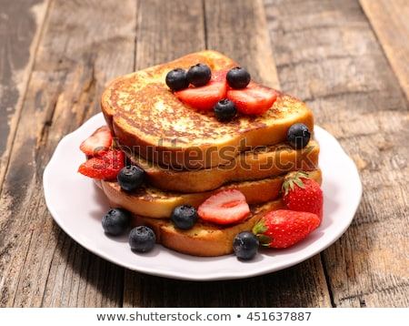 french toast with strawberry stock photo © m-studio