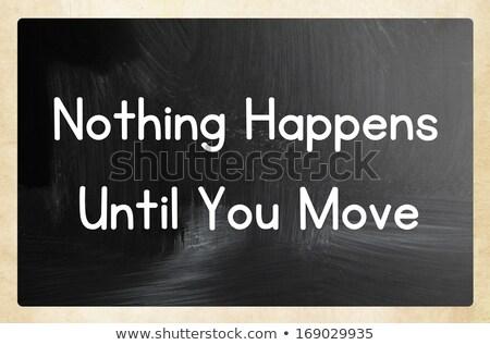 何も 移動 カラフル 単語 黒板 デザイン ストックフォト © Ansonstock