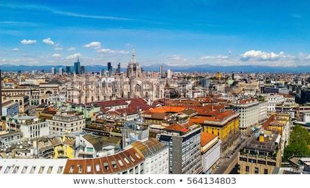 linha · do · horizonte · milan · Itália · urbano · arranha-céu - foto stock © TanArt