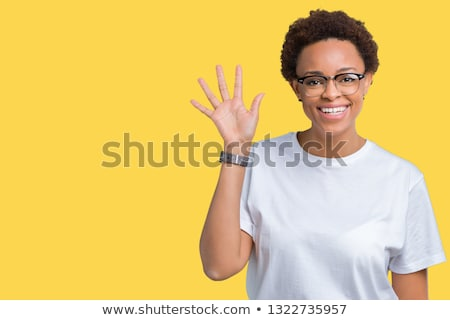 woman saying hello stock photo © smithore