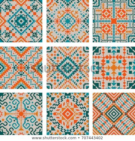 rózsaszín · őslakos · amerikai · kisebbségi · minta · vektor - stock fotó © ikopylov