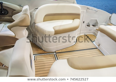 Boat interior with control panel instruments Stock photo © lunamarina