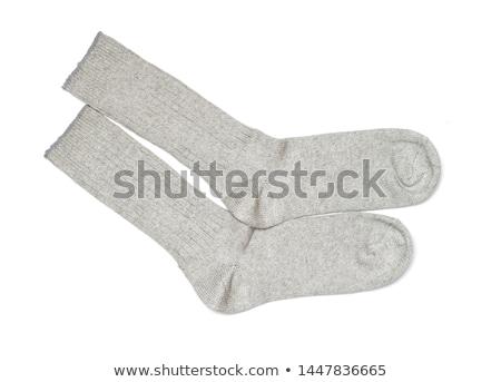 zokni · izolált · fehér · gyermek · fotó · pamut - stock fotó © tetkoren