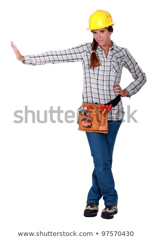 craftswoman making a stop sign Stock photo © photography33