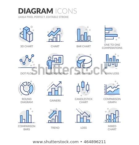 синий · Бар · Финансы · иконки · вектора · веб-иконы - Сток-фото © SergeyT