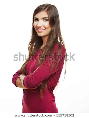 fiatal · nő · fehér · fogak · hibátlan · arcszín · nők · boldog - stock fotó © nobilior