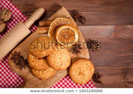 Delicioso cuadro dulce cookie Foto stock © raphotos