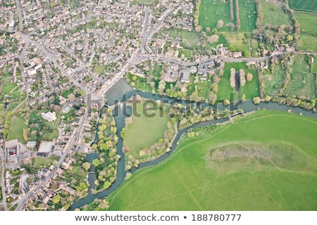 View of fields from a height, England Stock photo © jayfish