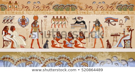 Stock photo: Egyptian hieroglyphics