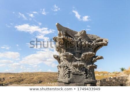 ギリシャ語 · 彫刻 · 古代 · 芸術 · 顔 · 建物 - ストックフォト © mycola