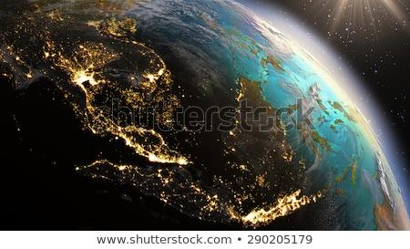 City · Lights · Мир · карта · Индия · Элементы · изображение · мира - Сток-фото © harlekino