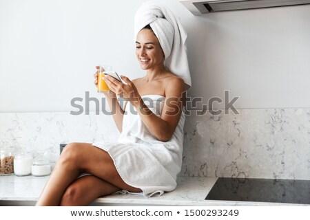 belo · mulher · jovem · toalha · menina · sensual · moda - foto stock © urchenkojulia