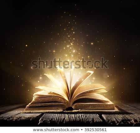 abrir · antigo · bíblia · alto · contraste · luz - foto stock © c-foto
