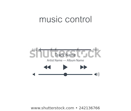 branco · tecnologia · volume · música · botão - foto stock © deomis
