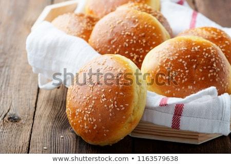 гамбургер хлеб печи изображение продовольствие макроса Сток-фото © emirkoo