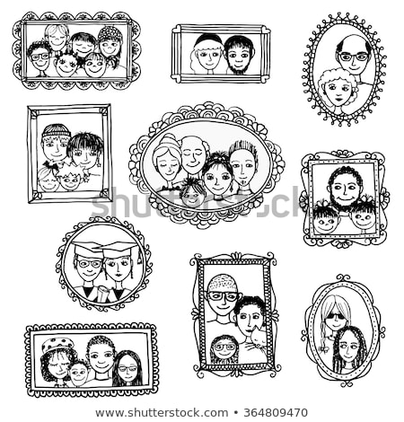doodle family pictures stock photo © glorcza
