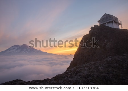 High rocks and clouds Stock photo © Givaga