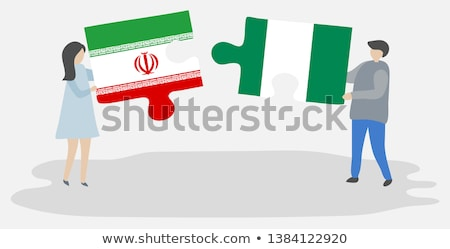 iranian and nigerian flags in puzzle stock photo © istanbul2009